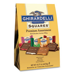 Ghirardelli® Premuim Assorted Dark and Milk Chocolate Squares, 15.77 oz Bag, Free Delivery in 1-4 Business Days