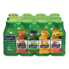 Naked® Juice Variety Pack, 10 oz, Assorted Flavors, 12/Carton, Free Delivery in 1-4 Business Days