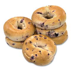 National Brand Fresh Blueberry Bagels, 6/Pack, Free Delivery in 1-4 Business Days