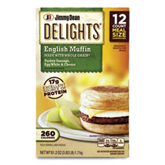Jimmy Dean® Delights English Muffin, Turkey Sausage, Egg White and Cheese, 61.2 oz Box, 12/Box, Delivered in 1-4 Business Days