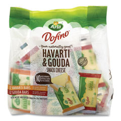 Arla® Havarti and Gouda Cheese Snack Bars, 0.75 oz Bars, 24 Bars/Pack, Free Delivery in 1-4 Business Days