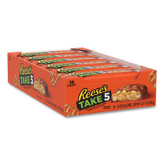 Reese's® TAKE5 Candy Bar, 1.5 oz Bar, 18 Bars/Box, Free Delivery in 1-4 Business Days
