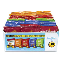 SunChips® Variety Mix, Assorted Flavors, 1.5 oz Bags, 30 Bags/Box, Free Delivery in 1-4 Business Days