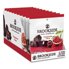 BROOKSIDE Dark Chocolate Pomegranate, 3 oz Pouch, 10 Pouches/Box, Free Delivery in 1-4 Business Days
