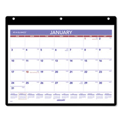 AT-A-GLANCE® Monthly Desk/Wall Calendar, 11 x 8, White, 2022