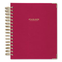 AT-A-GLANCE® Harmony Daily Hardcover Planner, 8.75 x 7, Berry, 2021