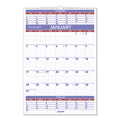 AT-A-GLANCE® Three-Month Wall Calendar, 15.5 x 22.75, 2022