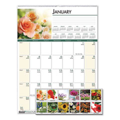 House of Doolittle™ Recycled Floral Monthly Wall Calendar, 12 x 16.5, 2021