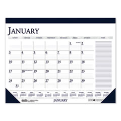 House of Doolittle™ 100% Recycled Two-Color Monthly Desk Pad Calendar with Large Notes Section