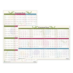 House of Doolittle™ Recycled Floral Reversible/Erasable Wall Calendar, 24 x 37, 2021