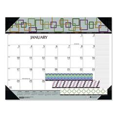 House of Doolittle™ 100% Recycled Geometric Desk Pad Calendar, 22 x 17, 2021