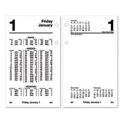 AT-A-GLANCE® Financial Desk Calendar Refill, 3.5 x 6, White, 2022