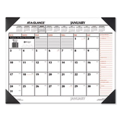 AT-A-GLANCE® Two-Color Monthly Desk Pad Calendar, 22 x 17, 2022