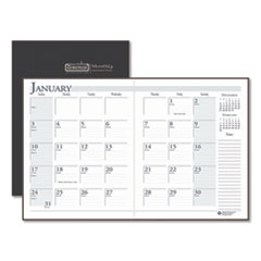 House of Doolittle™ 100% Recycled Ruled 14-Month Planner with Stitched Leatherette Cover