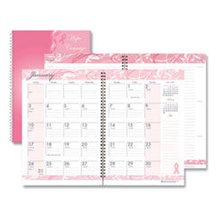 House of Doolittle™ Recycled Breast Cancer Awareness Monthly Planner/Journal, 10 x 7, Pink, 2021