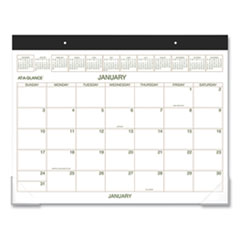 AT-A-GLANCE® Two-Color Desk Pad, 22 x 17, 2022