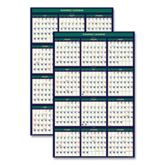 House of Doolittle™ Recycled Four Seasons Reversible Business/Academic Calendar, 24 x 37, 2020-2021