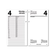 AT-A-GLANCE® Large Desk Calendar Refill, 4.5 x 8, White, 2022