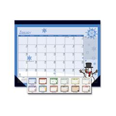 House of Doolittle™ 100% Recycled Seasonal Desk Pad Calendar