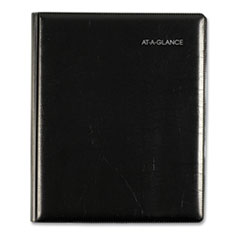 AT-A-GLANCE® Executive Weekly/Monthly Planner, 8.75 x 7, Black, 2021