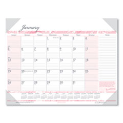 House of Doolittle(TM) Breast Cancer Awareness 100% Recycled Monthly Desk Pad Calendar