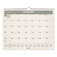 AT-A-GLANCE® Recycled Wall Calendar, 15 x 12, 2022
