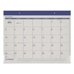 AT-A-GLANCE® Fashion Color Desk Pad, 22 x 17, Blue, 2022