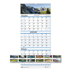 House of Doolittle™ Earthscapes™ 100% Recycled Scenic Three-Month Format Vertical Wall Calendar
