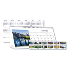 House of Doolittle™ Recycled Scenic Photos Desk Tent Monthly Calendar, 8.5 x 4.5, 2021