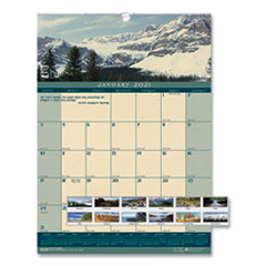 House of Doolittle™ Recycled Landscapes Monthly Wall Calendar, 12 x 16.5, 2021