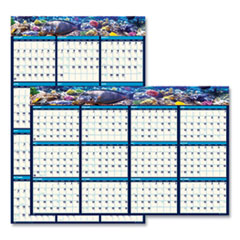 House of Doolittle™ Recycled Earthscapes Sea Life Scenes Reversible Wall Calendar, 24 x 37, 2021