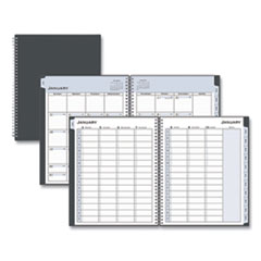 Blue Sky® Passages Weekly/Monthly Wirebound Planner, Vertical Format, 11 x 8.5, Black Cover, 2021