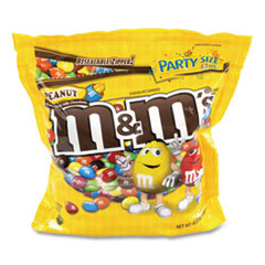 M & M's® SUP Party Bag Peanut, 38 oz Bag, 2 Bags/Pack, Free Delivery in 1-4 Business Days