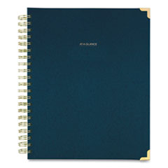 AT-A-GLANCE® Harmony Weekly/Monthly Hardcover Planner, 11 x 8.5, Navy Blue, 2021