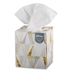 Kleenex® Boutique White Facial Tissue, 2-Ply, Pop-Up Box, 95 Sheets/Box, 3 Boxes/Pack, 12 Packs/Carton