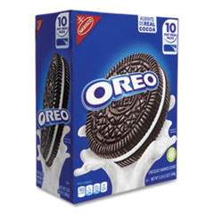Nabisco® Oreo Chocolate Sandwich Cookies, 5.25 oz Pouch, 10 Pouches/Box, Free Delivery in 1-4 Business Days