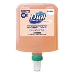 Dial® Professional Dial 1700 Manual Refill Antimicrobial Foaming Hand Wash, Original, 1.7 L Bottle, 3/Carton