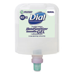 Dial® Professional Dial 1700 Manual Refill Antibacterial Gel Hand Sanitizer, Fragrance-Free, 1.2 L, 3/Carton