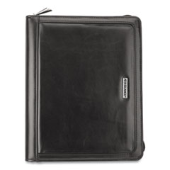 AT-A-GLANCE® Faux Black Leather Starter Set, 10.4 x 8.7, Black