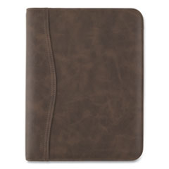 AT-A-GLANCE® Distressed Brown Leather Starter Set, 11 x 8.5, Brown