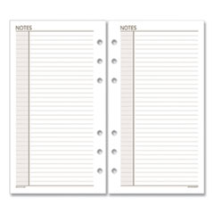 AT-A-GLANCE® Lined Notes Pages, 6.75 x 3.75, White, 30/Pack
