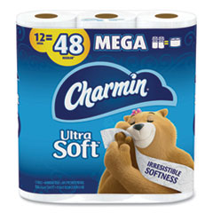 Charmin® Ultra Soft Bathroom Tissue, Septic Safe, 2-Ply, White, 4 x 3.92, 264 Sheets/Roll, 12 Rolls/Pack, 4 Packs/Carton