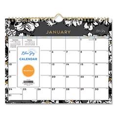 Blue Sky® Baccara Dark Wall Calendar, 11 x 8.75, 2022