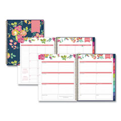 Blue Sky® Day Designer CYO Weekly/Monthly Planner, 11 x 8.5, Navy/Floral, 2022