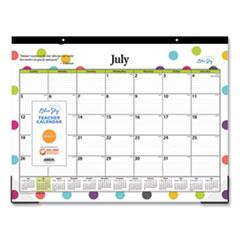 Blue Sky® Teacher Dots Academic Year Desk Pad, 22 x 17, Assorted Color Dots, 2021-2022