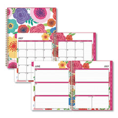Blue Sky® Mahalo Academic Year CYO Weekly/Monthly Planner, 11 x 8.5, Tropical Floral, 2021-2022