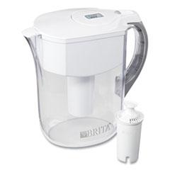 Brita® Grand Water Pitcher, 10 Cups, White/Clear