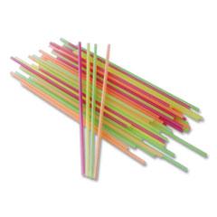 "Berkley Square Neon Sip Sticks, 5.5"", Assorted, 1,000/Pack"