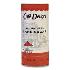 Café Delight All Natural Cane Sugar. 20 oz Canister
