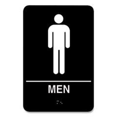 COSCO Indoor Restroom Door Sign, Men/Women, 5.9 x 9, Black/White, 2/Pack